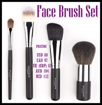 Our four face-related brushes