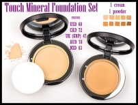 Choose a cream and a powder foundation in whichever shades you want